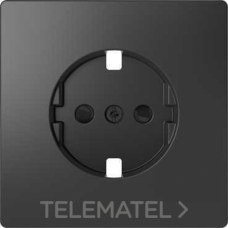 SCHNEIDER ELECTRIC MTN2330-6034 Tapa para base schuko 16A D-LIFE de color antracita en policarbonato mate