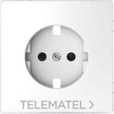 SCHNEIDER ELECTRIC MTN2330-6035 Tapa para base schuko 16A D-LIFE de color ártico en policarbonato mate