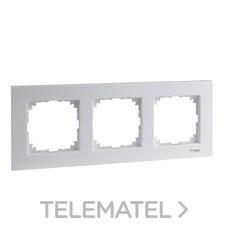 SCHNEIDER ELECTRIC MTN4030-3035 Marco 3 elementos ELEGANCE blanco activo