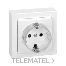 SIMON 73432-50 Base enchufe bipolar toma tierra lateral Simon 73 LOFT blanco