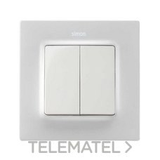 SIMON 8200026-090 Tecla doble Simon 82 para mecanismos blanco mate