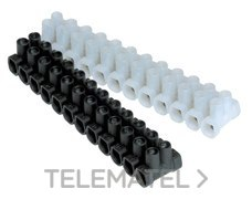 TEKOX 116 N Regleta conexión 12P 16mm estándar negra