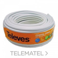 TELEVES 435501 Cable coaxial PVC 20m blanco rollo