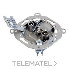 TELEVES 522610 Toma terminal TV790/FM-SAT 0,6-1,5dB+DC