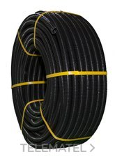 TUPERSA 070500025 Tubo flexible de PVC corrugado diámetro 25 negro