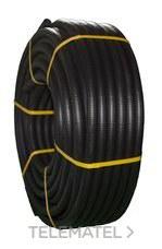 TUPERSA 080500020 Tubo flexible de PVC corrugado forrado diámetro 20 negro