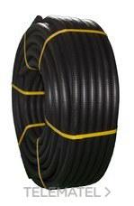 TUPERSA 080500032 Tubo flexible de PVC corrugado forrado diámetro 32 negro